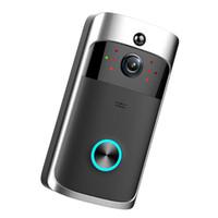 görüş uzaklığı toptan satış-HD 720 P M3 Kablosuz Video Kapı Zili WIFI Uzaktan Interkom Algılama Elektronik Ev Güvenlik HD Görünür Monitör Gece Görüş Diyafon