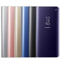 lg sehen telefon großhandel-Original flip case für samsung galaxy s10 plus s10e m20 m30 a10 a20 a20e a30 a40 a50 a60 a70 a80 a10e smart clear view phone case