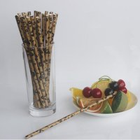 Wholesale leopard print paper - Leopard Zebra Printed Paper Straws Birthday Wedding Party Decoration Safari Party Theme Drinking Straws Free Shipping ZA6763