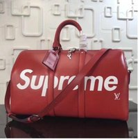 Wholesale Large Denim Tote Bag - 2018 Women Handbags Pink Letter Large Capacity Travel Duffle Striped Waterproof Beach Bag Shoulder Bag
