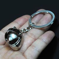 porta-chaves cool venda por atacado-Marca de Metal 3D Legal Capacete Keychain Da Motocicleta Da Bicicleta Auto Cars Casque Anel Chave Chaveiro Chaveiro Titular Keyfob para o Homem e as Mulheres