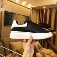 ingrosso donne calde delle scarpe da ginnastica della piattaforma-Scarpe nuove designer di alta stagione Scarpe da donna di lusso Scarpe stringate in pelle da uomo Scarpe da ginnastica oversize suola Scarpe casual nere bianche con scatola