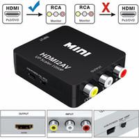ingrosso av monitor adattatore-Convertitore da mini HDMI a AV / RCA Composito da HDMI a RCA Convertitore video AV Adattatore Full HD UP Scaler 1080P HDMI2AV per TV standard HDTV / Monitor