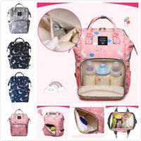 Wholesale children backpacks animal for sale - Group buy 2018 New Unicorn Printing Mommy Backpacks New Mommy Bag Big Shoulders Fashion Mother Child Outgoing Travel Bag cm Styles