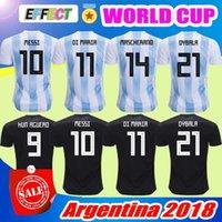 Wholesale army man uniform - 2018 Argentina World Cup Soccer Jersey 18 19 Argentina Home Away soccer Shirt Messi Aguero Di Maria MASCHERANO DYBALA football uniforms