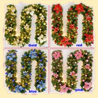 Wholesale christmas ornament tops for sale - Group buy DIY Christmas Decorations Rattan Bar Tops Ribbon Christmas Home Decoration Garland Christmas Tree Party Wedding Ornaments m HH7