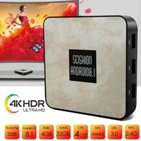 Wholesale android tv core 4k 3d resale online - Android TV Box GB GB CPU SCISHION RX4B Media Player Support K Full HD H D Outputs Smart TV Box
