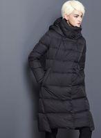 ingrosso blu navy giù cappotti-Piumini invernali invernali donna 2018 nero blu navy rosso plus size piumini invernali S18101306