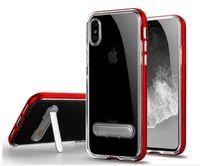 стойка для бампера оптовых-Новый кристалл ТПУ металлический гибридный чехол с магнитной подставкой для iphone XS Max 8 7 6 6 s плюс 5 с SGP бампер телефон чехол
