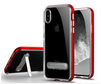 metallmagnetständer großhandel-Neue kristall tpu metall hybrid case mit magnet stehen für iphone xs max 8 7 6 6 s plus 5 s sgp bumper phone case