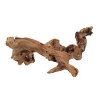 doğal ahşap dekorasyon toptan satış-Akvaryum Lavabo Driftwood Örümcek Ahşap Doğal Grapewood Balık Tankı Dekorasyon Tropikal Balık Bitki Habitat Dekor Değişir Boyutu