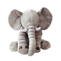 riesen-spielzeug gefüllt elefanten großhandel-Dorimytrader 80 cm Plüsch Cartoon Elefant Spielzeug Riesen Gefüllte Weiche Heiße Tier Umarmung Kissen Puppe Baby Präsentieren DY61222