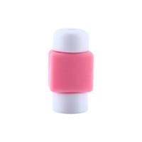 colores del cable de carga usb del iphone al por mayor-5 unidades / Paquetes para iPhone 5 5s 6 6s 6Plus 6s Plus Protector de ahorro de cable de carga USB Cubierta de colores aleatorios Enviar envío gratis