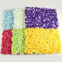 Wholesale Display Rows - Colorful Flower Rows Easy To Install Wedding Decorative Supplies Safety Non Toxic Simulation Hydrangea Flower Arches Exquisite 16 9my B