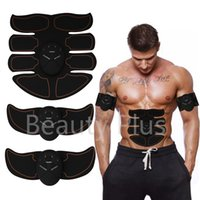 Wholesale muscle equipment resale online - Eight pack ABS Muscle Toner Mobile Gym Smart Fitness EMS Micro electronic Fit Boot Toning Workout Equipment Orange Line