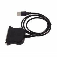 paralelos de área de trabalho venda por atacado-USB para impressora paralela de adaptador de cabo de 25 pinos DB25