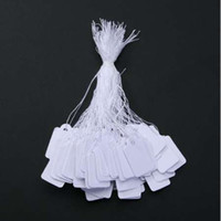 preço do saco de corda venda por atacado-500 PCs / Saco de Jóias Por Atacado Preço Etiqueta com Display String lable personalizado impresso etiquetas de preço de vestuário branco