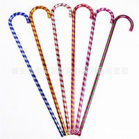 Wholesale cane top - Double Color Belly Dance Cane Durable Non Slip Canes Sticks Party Stage Performance Crutch Top Quality 10hy2 T
