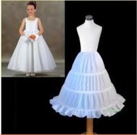 bebekler kızlar beyaz top elbiseler toptan satış-Ucuz Beyaz Çiçek kızın Petticoat Kabarık Etek Bebek Çocuk Küçük Kızlar Balo Jüpon Ucuz kızın Pageant Elbise Çocuk 'Aksesuarları