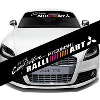 etiqueta dos carros do mitsubishi venda por atacado-Refletivo Mitsubishi Frente Traseira Pára Brisa Decalque de Vinil Adesivos de Carro Auto Janela Exterior DIY Decorações