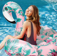 Wholesale inflatable pools for adults - Floral Bird Inflatable Floating Row Outdoor Beach Swimming Pool Bed For Adults and Kids Universal Newest Summer Fun NNA236