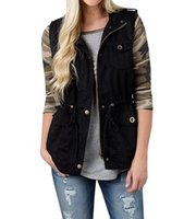 147ed37b1b0 Waistcoat Vest Women spring zipper up Multi-Pockets Army green Casual  Military Drawstring plus size Sleeveless Jackets Outwear