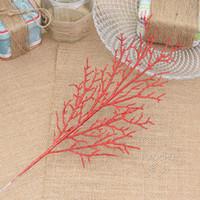 vides de arboles al por mayor-Moda 5 unids / lote 13 * 40 cm ahueca las hojas de Navidad para el árbol de Navidad Vine Garland Decor Artificial Flower Craft