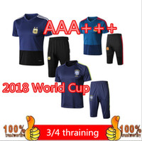 Wholesale Short Jackets Men - World Cup PORTUGAL 3 4 Training suit 1819 Survetement Argentina Colombia football sportswear jacket tracksuit chandal