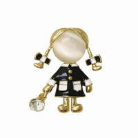 ingrosso ragazza carina opale-OneckOha Cute Russia Girl Spilla Pin Opal Stone Figure Pin Regalo per la figlia