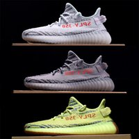 Wholesale body sold - Top 350 V2 Walking Shoes, Sesame Kanye West Sply 350 Sneakers Butter Zebra+Ice Yellow+Blue Tint+Cream White,Best sell Run Shoe