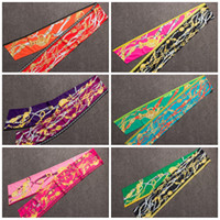 Wholesale digital printing silk scarves - Max Twilly Silk Head Scarf New Design Digital Printing Women Neckerchief Non Pilling Long Ribbons Scarves Factory Direct 29xj B