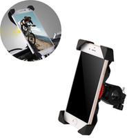 universal-fahrradhalterung großhandel-Rutschfester Universal-360 drehender Fahrrad-Fahrrad-Telefon-Halter-Lenkstangen-Klipp-Standplatz-Halter für intelligentes mobiles Mobiltelefon 30ST04