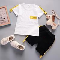 Wholesale autumn children s clothing for sale - Summer Children Clothes Boys Short Sleeve Letter Top Short Pants Outfits Colors s l