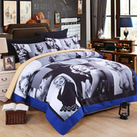 Wholesale marilyn monroe bedding resale online - 3D Bedding Sets Luxury Design Duvet Cover Simple And Generous Marilyn Monroe Character Printing Quilt Covers Comfortable tm ff