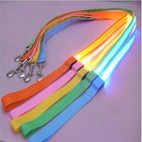 Wholesale led glow dog collar online - CW007 Nylon Pet cm LED Dog Leash Night Safety Flashing Glow LED Pet Supplies Cat Dogs Drawing Small Leads for LED Dog Collar