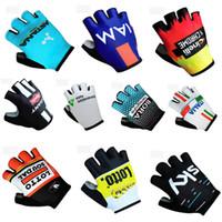 Wholesale Cycling Gloves Tour - 2018 Tour de france SKY ASTANA IAM Giant Bora Lotto Data Inelli Cycling Bike Bicycle Team Antiskid GEL Sports Half Finger Gloves