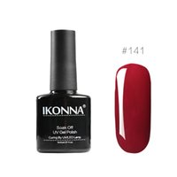 roter rosa nagellack großhandel-Ikonna # 141 8 Ml Wein Roter Nagellack