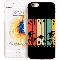 ingrosso caso di iphone 5c del silicone nero-Custodia in silicone TPU silicone trasparente per Coque Black Surfing California per iPhone X 7 8 Plus 5S 5 SE 6 6S Plus 5C 4S 4 iPod Touch 6 5 Custodie.