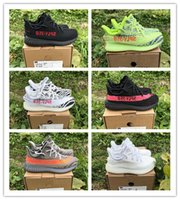Wholesale zebra printed animals online - Infant V2 sneakers Fluorescent Green Frozen Yellow Kids Running shoes Zebra Shoes Sply Baby Kanye West Youth Toddler Trainers