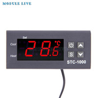 Wholesale thermostat digital thermometer resale online - STC AC V A LCD Digital Thermostat Temperature Control Thermometer Thermo Controller With NTC Sensor