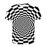 siyah beyaz şerit gömlekler kadın toptan satış-Siyah ve beyaz çizgili 3D Komik Tişörtleri Yeni Moda Erkekler / Kadınlar 3D Baskı Karakter T-Shirt T gömlek Kadınsı Seksi Tshirt Tee Tops ya220
