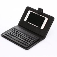 Wholesale cell phone kickstand for sale – best New Universal Wireless Bluetooth Keyboard PU Leather Protective Case For iPhone Samsung Huawei LG quot quot Mobile Cell Phone