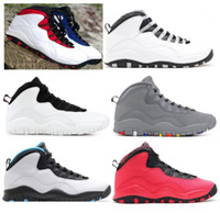 Wholesale rubber backs - New 10 Westbrook Red Blue I'm Back White Black Men Basketball Shoes 10s Powder Blue Cool Grey Steel Sneakers High Quality With Box