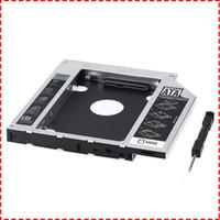 hdd externo de alta velocidade venda por atacado-SATA 3nd Alumínio HDD Caddy Caso Bandeja para 12.7mm Universal CD / DVD-ROM Slot Drive Ótico Bay (para SSD e HDD)