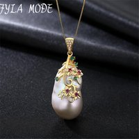 collier de perles baroques 925 achat en gros de-Vintage Baroque Pearl Necklace Pendentif Baroque en Argent Sterling 925 Big Nature Jewerly Chaque Différent