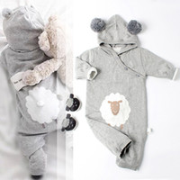 Wholesale overall for toddlers boy for sale - Group buy New Arrival Baby Rompers Toddler Boys and Girls Knitted Hooded Jumpsuit Fashion Newborn Overalls for Autumn and Winter