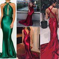 robe de fessée sexy femme nue achat en gros de-Spandex Bourgogne longue robe de soirée de bal transformable de haute qualité Club robe de soirée robe moulante vert Maxi