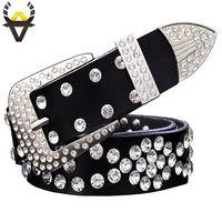 tela de gamuza con estampado de leopardo al por mayor-diamantes de imitación de la moda cinturones de cuero genuino de las mujeres unisex de lujo diseñador cinturón para los hombres de alta calidad de la capa segunda cowskin