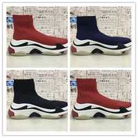 Wholesale fishing flats boots - 2018 New Hot Luxury Sock Speed Trainer Running Shoes Men&Women Sneakers Race Runners Fashion Top Boots Size 36-45