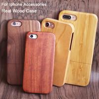 cubiertas elegantes del teléfono celular al por mayor-Lujo elegante caja del teléfono de madera para apple iphone 7 plus 8 6 6 s x 10 5 5s cubierta del teléfono celular móvil cajas de bambú de madera para samsung s9 s8 s7edge